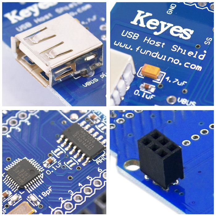2PCS Keyestudio USB Host Shield Expansion Board Compatible Google Android for Arduino