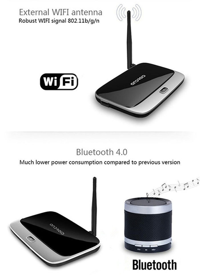 CS918 - Q7 TV Box Android 4.4 RK3188 Quad Core Mini PC WiFi Bluetooth HDMI Connectivity with AV Input