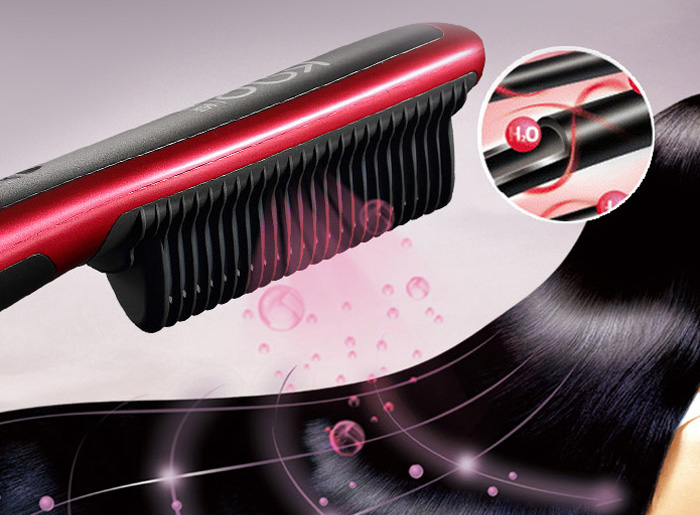 KingDom KD - 388 Electric Hair Straightener Comb 6 Mode Temperature Control