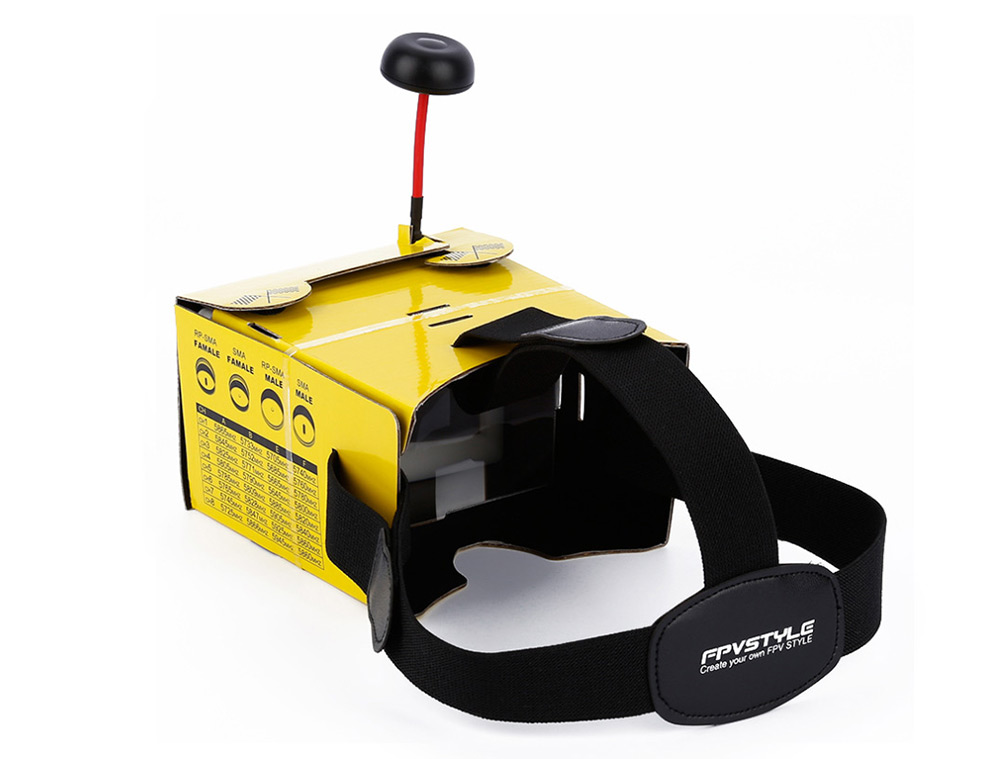 Foldable Card Board FPV Glass Paper Material Accessory without Monitor for QAV250 Multirotor