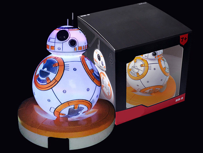 Creative BB - 8 RC Robot Toy with Seven Color Change Night Light Vinyl Home Decoration Accessory