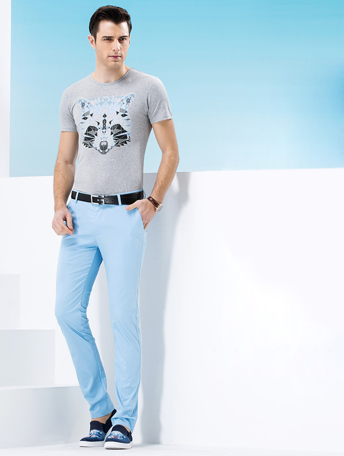 Legend Paul Animal Pattern Short Sleeves T-shirt for Male