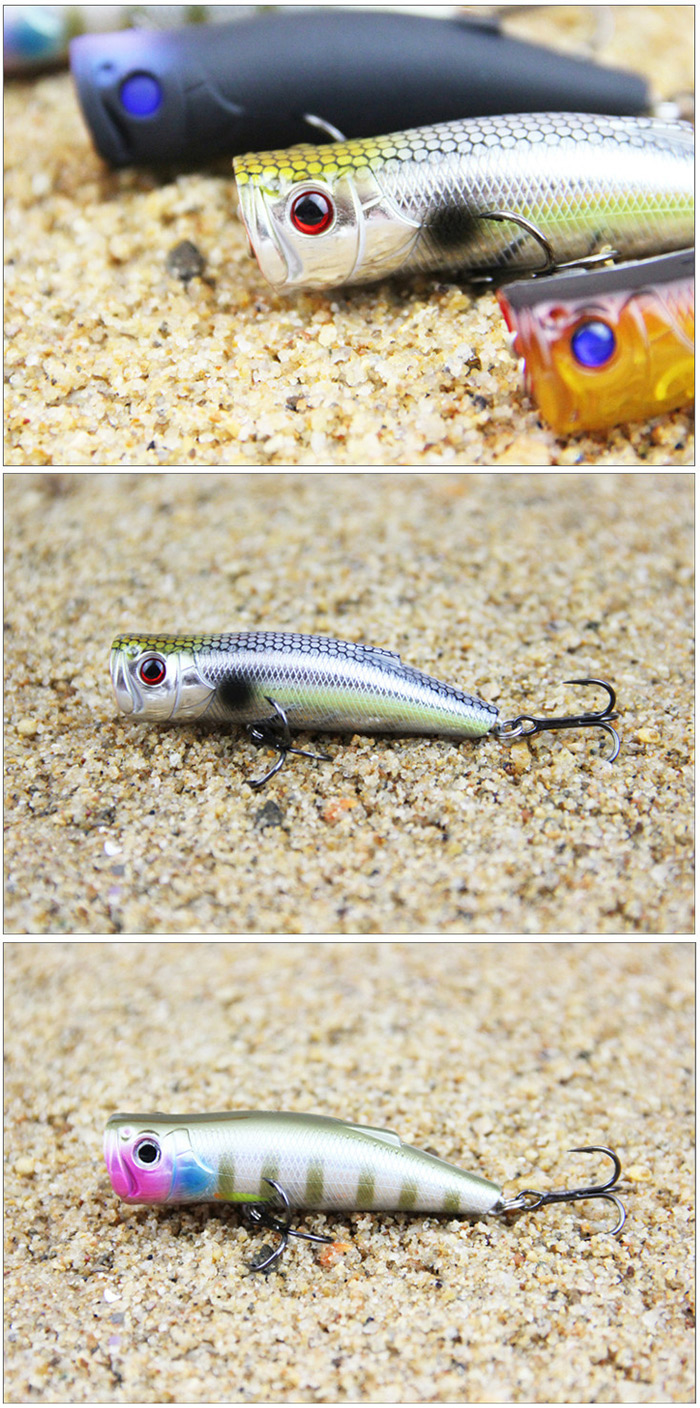 ILURE Popper Artificial Fishing Bait Hard Bionic Lure with Hook