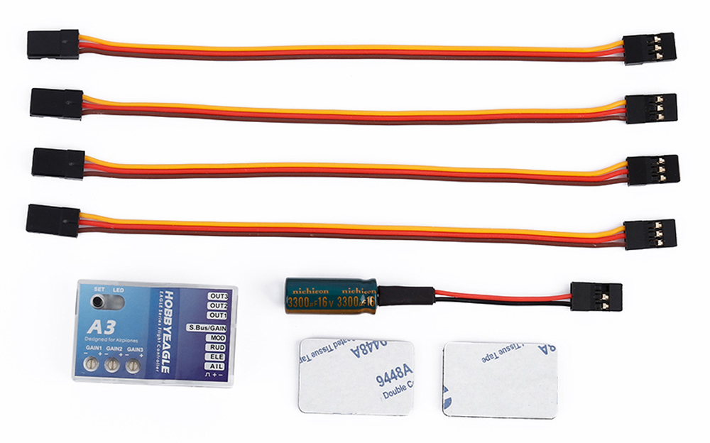 A3 6 Axis Gyro RC Fixed-wing Flight Stabilization Balance Controller for Eagle