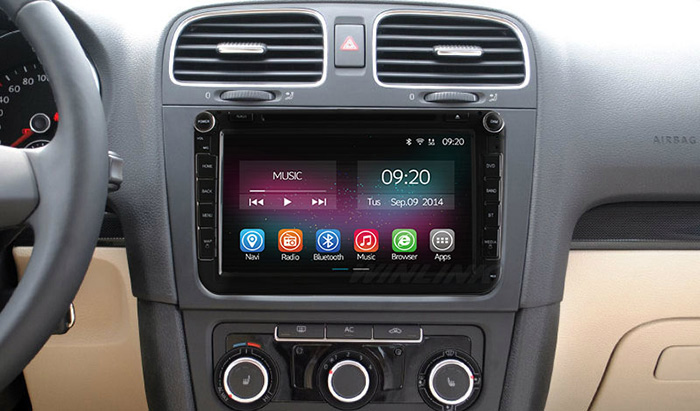 Ownice C200-OL-8901B 2 Din In-Dash 8.0 inch Car GPS DVD Multi-Media Player Android 4.4.2 RK3188 Cortex A9 Quad Core 2GB RAM 16GB ROM Bluetooth WiFi FM AM Touch Screen for Volkswagen