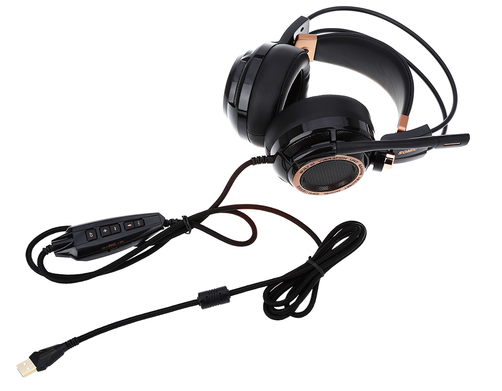 Somic G941 Active Noise Cancelling 7.1 Virtual Surround Sound USB Gaming Headset with Mic Vibrating Function