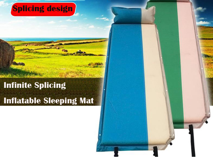 GAZELLEOUTDOORS PVC Lightweight Self Inflatable Mattress with Pillow for Camping