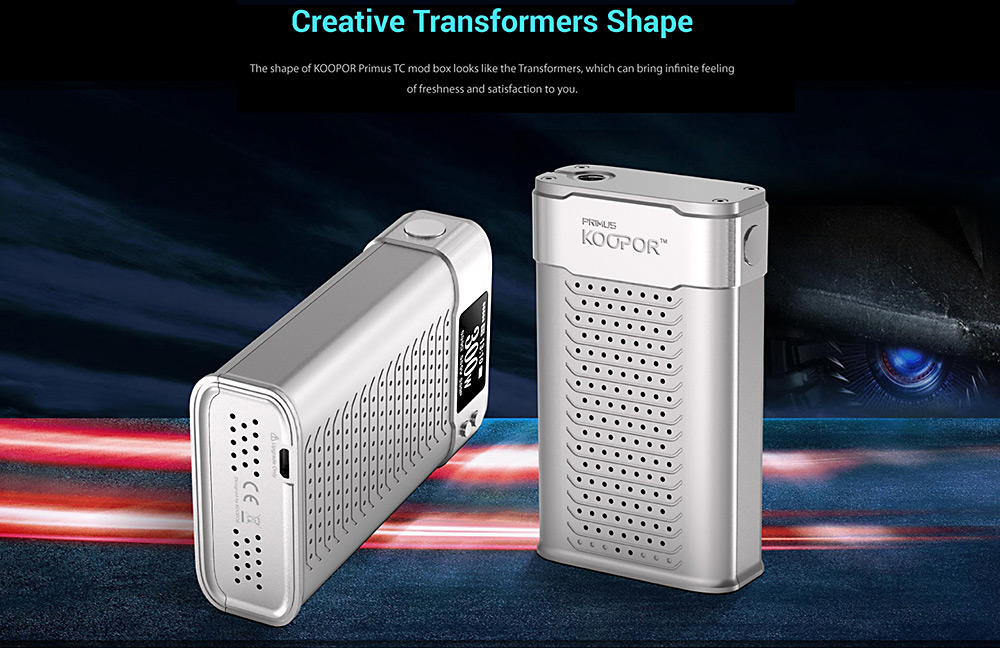 Original Smok KOOPOR Primus 300W TC Box Mod with VW / TC Mode / 100 - 600F / Supporting SS / Ni200 / Ti Wire E Cigarette Vape Mod