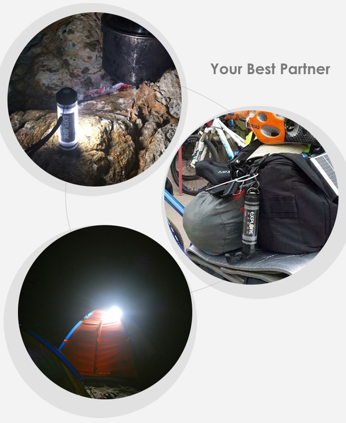 Uyc Q7M Rechargeable Mini LED Camping Light Flashlight Power Bank Function
