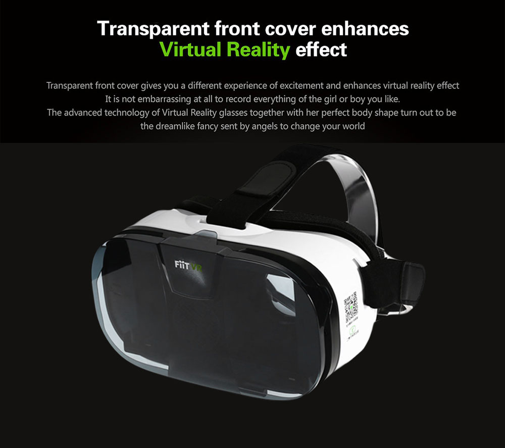 FIIT 3D VR Glasses Virtual Reality Headset Private Theater Game Video with Wireless Remote Controller for 4 - 6.5 inch Smartphone