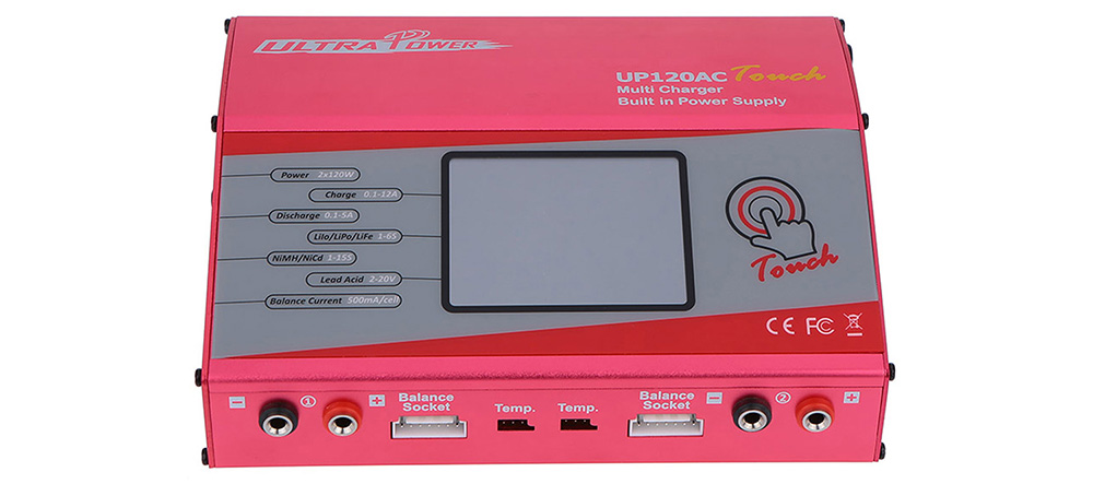 Ultra Power UP120AC Touch 2 x 120W Balance Charger for Battery