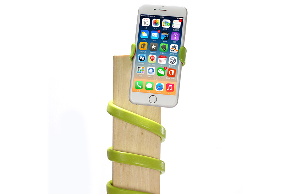 Flexible Mobile Phone Bracket Adjustable Stand Rotatable Holder with Spiral Base