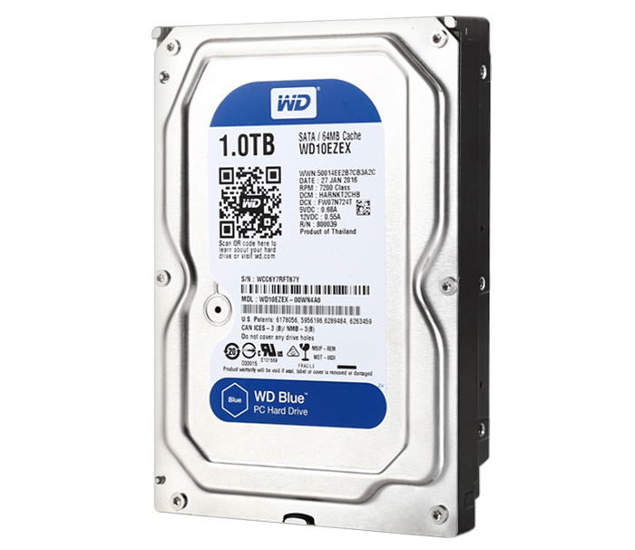 WD 1TB HDD SATA 32MB for PC