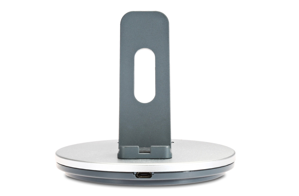 Creative Aluminum Phone Stand Charging Holder with Micro USB Connector