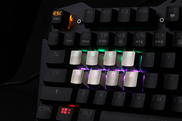K6 Metal Replacement Keycaps for Mechanical Keyboard - 8PCS
