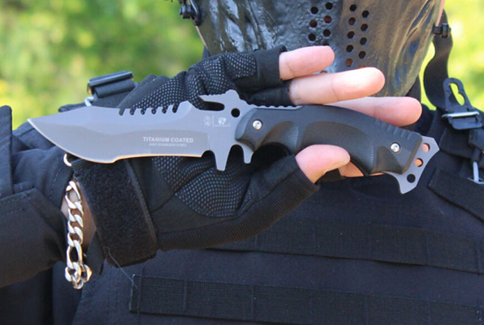 HX OUTDOORS D - 123 High Hardness Fixed Blade Knife for Outdoor Survival