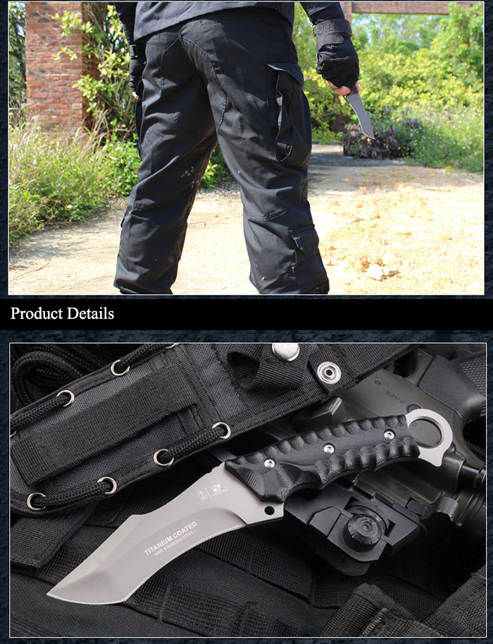 HX OUTDOORS D - 121 High Hardness Fixed Blade Straight Knife for Outdoor Survival