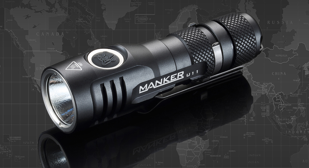 Manker Quinlan U11 CREE XP - L V5 1050LM Rechargeable LED Flashlight