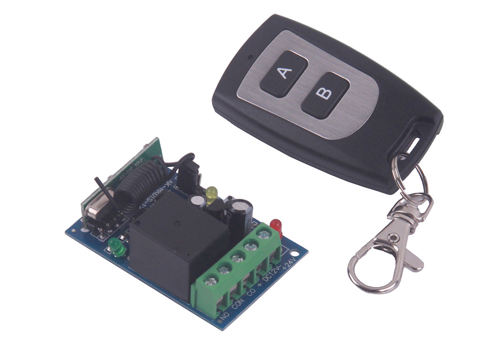 DC12V Single Channel Wireless Remote Control Switch for Learning - 2 Buttons