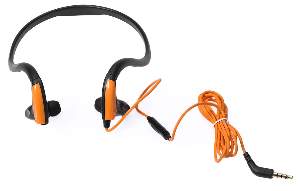Kimmar J039 Sport Sweat Resistant Neckband In-ear Earphones 3.5mm Plug with Mic On-cord Control