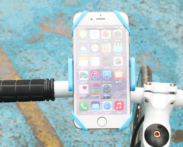 SEZU Bicycle Mounted Phone Stand Clip Style Mobile Bracket with 360 Degree Rotation