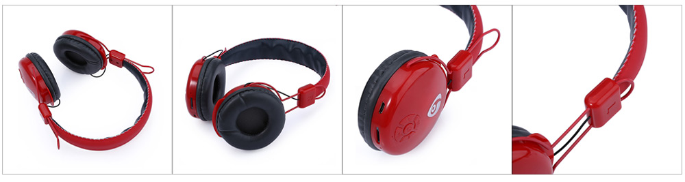V8 - 2 Wireless Bluetooth V4.0 Headphones with Mic Support TF Card