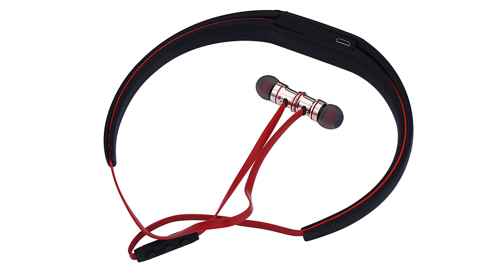 BTH - 816 Bluetooth Sport Earbuds with Mic On-cord Control Neckband