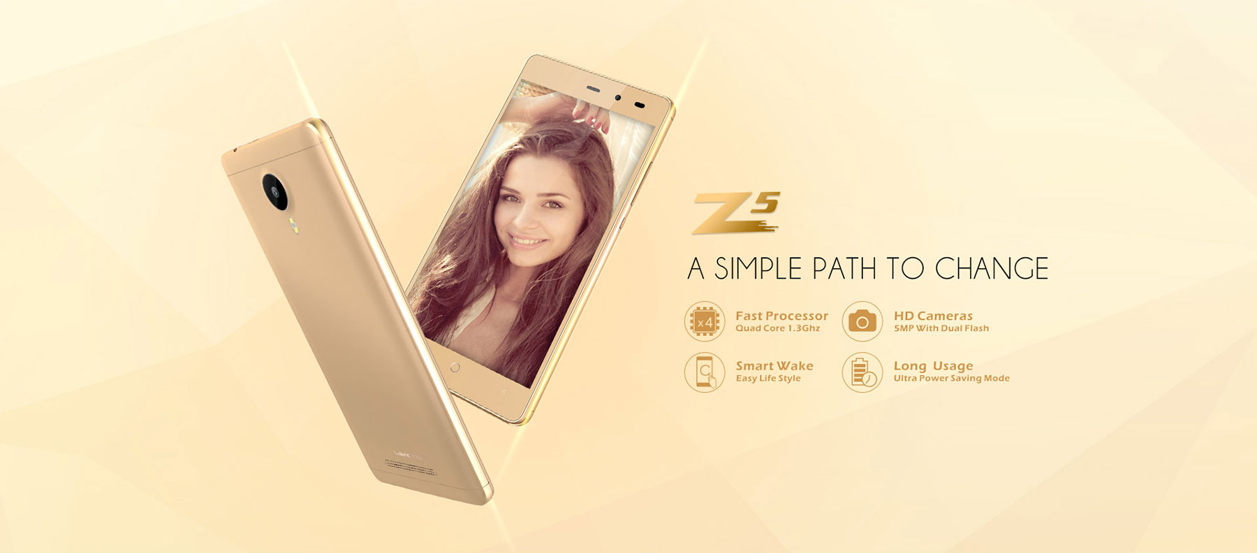 Leagoo Z5 5.0 inch Android 6.0 3G Smartphone MTK6580 Quad Core 1.3GHz 1GB RAM 8GB ROM Dual Cameras Bluetooth 4.1 Cameras GPS