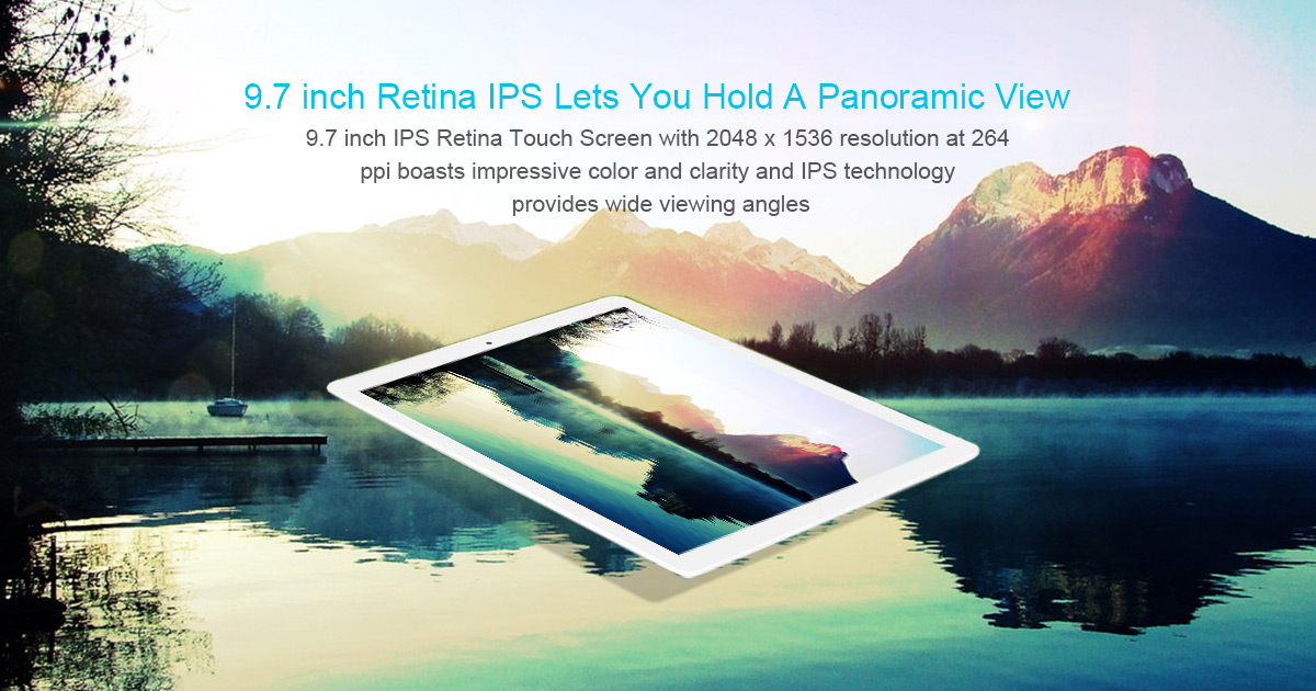 Teclast X98 Plus II 2 in 1 Tablet PC 9.7 inch Windows 10 + Android 5.1 Retina Screen Intel Cherry Trail Z8300 64bit Quad Core 1.44GHz 4GB RAM 64GB ROM HDMI Cameras Bluetooth 4.0