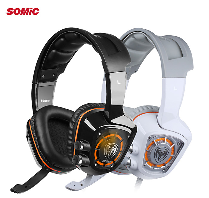 Somic G910 USB Gaming Headset 7.1 Surround Sound Vibration for Game Player with LED Light
