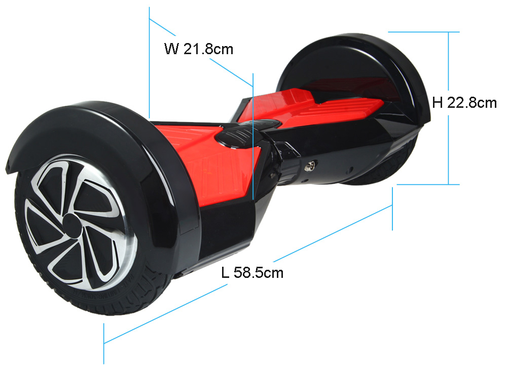 AOSDER Q6 Bluetooth Two Wheels Hoverboard 4400mAh Polymer Battery
