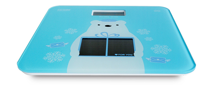 YESHM YHB1408 Solar Electronic Personal Scale LCD Weighing Tool Auto Off Function