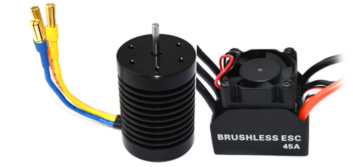 Surpass F540 Brushless 3930KV Slotted Motor + 45A Water-proof ESC for 1:10 Off-road / On-road Racing Car