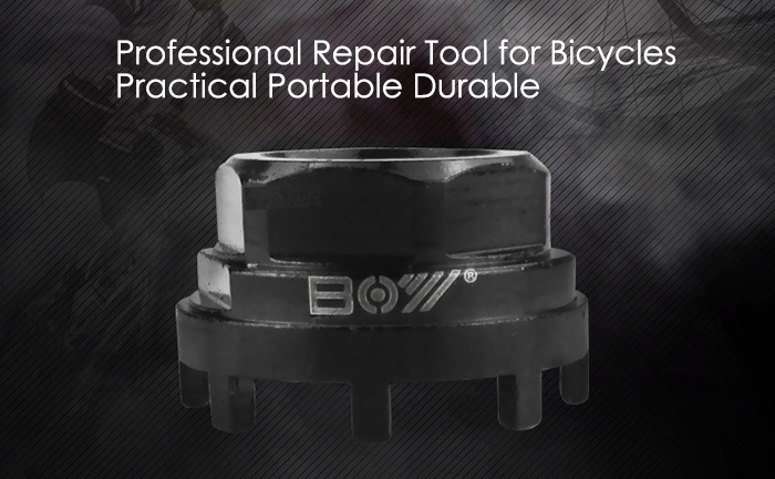 BOY 7013 Eight Legged Bottom Bracket Axis Removal and Installation Tool for Bicycle Repair