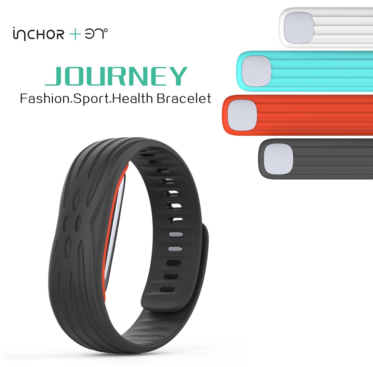 37 Degree Journey Heart Rate Track Smart Watch with USB Plug