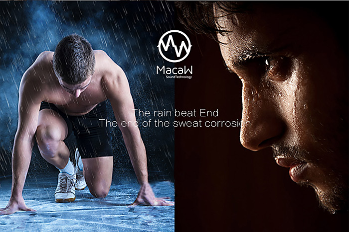 MACAW T1000 Wireless Bluetooth Sport HiFi Music In-ear Earbuds Support Hands-free Calls Nylon Braided Cable