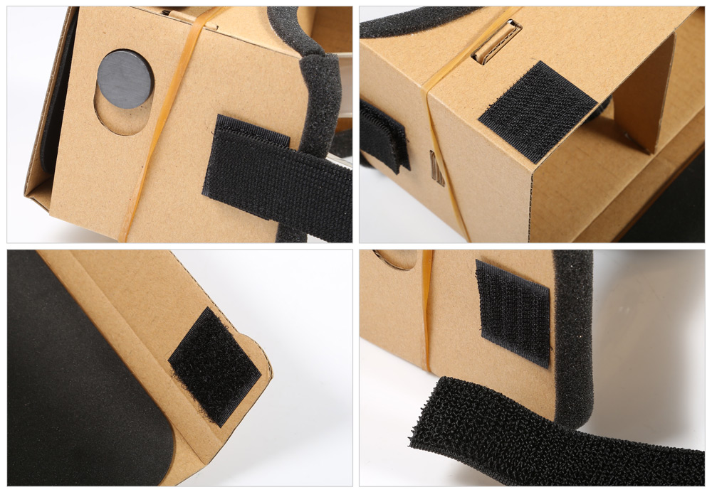 Cardboard 3D VR Glasses Virtual Reality Headset DIY Private Theater Paperboard for 3.5 - 5.5 inch Smartphone