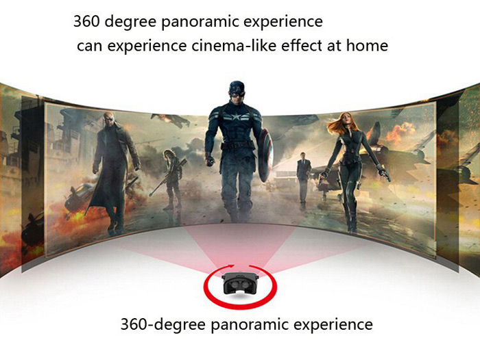 VR PARK III 3D VR Glasses Virtual Reality Headset Private Theater Game Video with Bluetooth Remote Controller for 4.0 - 6.0 inch Smartphone