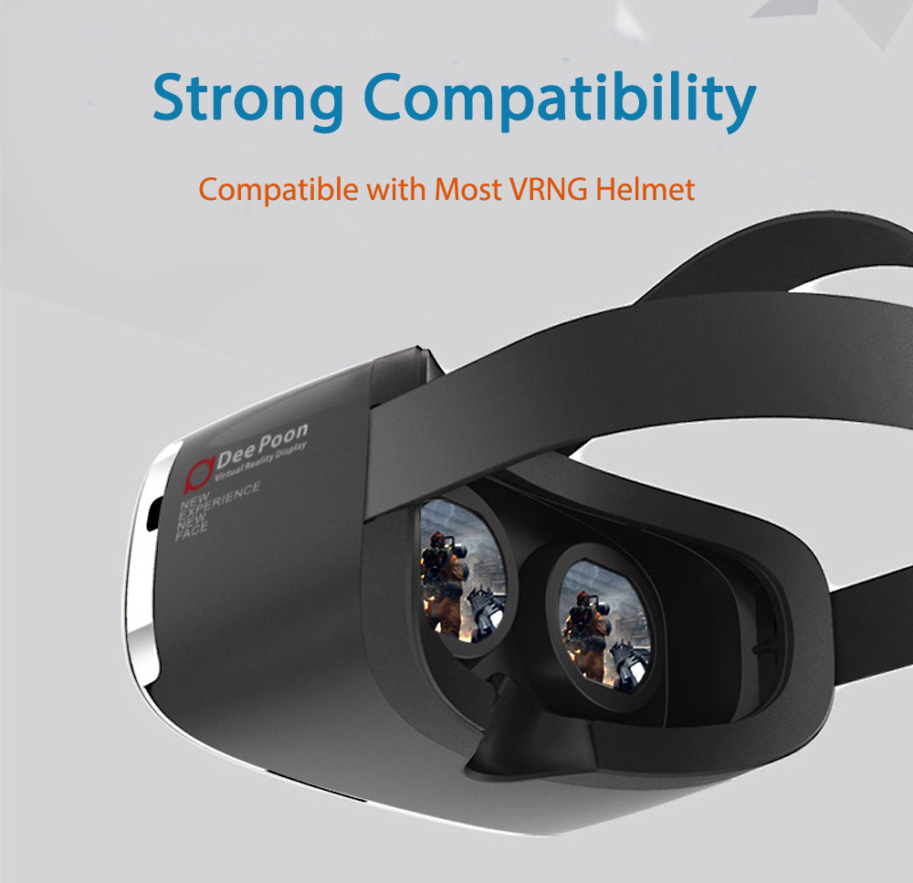 Deepoon E2 Virglass 3D Head-Mounted VR Glasses Virtual Reality Full View Headset Game Video Private Theater
