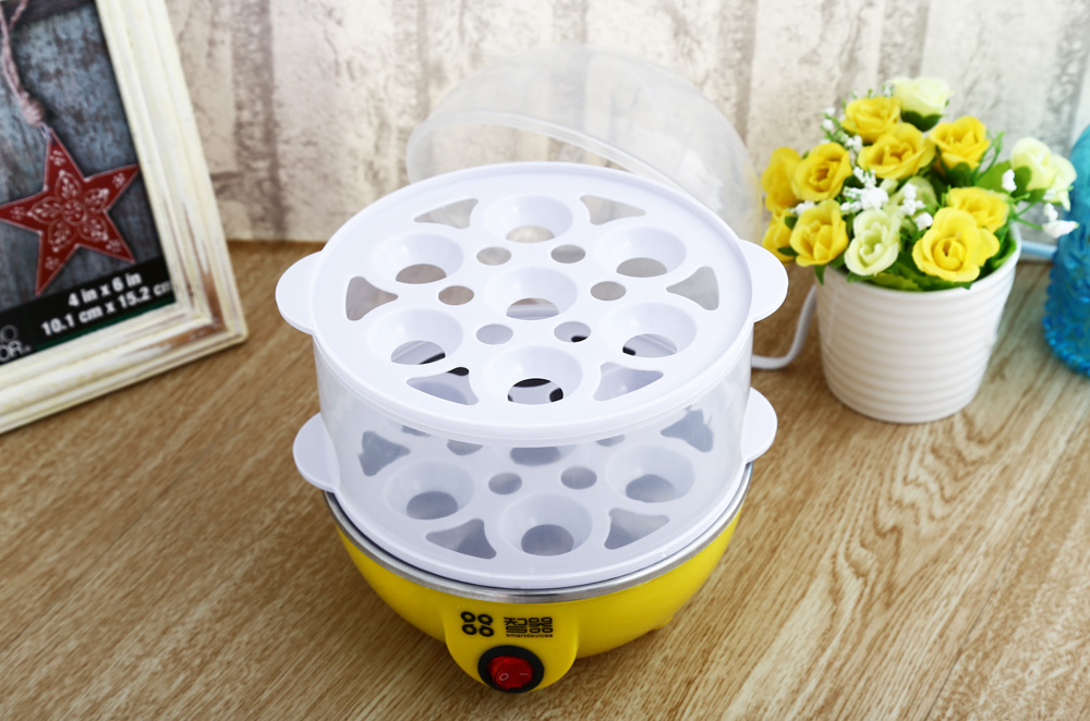 Practical Two Layers 14 Eggs Boiler Electric Egg Cooker Steamer Kitchen Tool