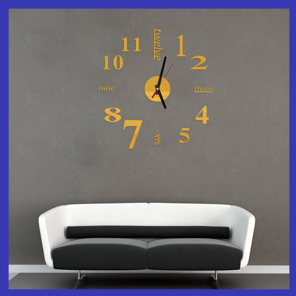 Fun Life Creative DIY Wall Clock with Decorative English Words Number