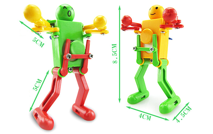 Clockwork Spring Wind Up Dancing Robot Toy Gift for Children Kid