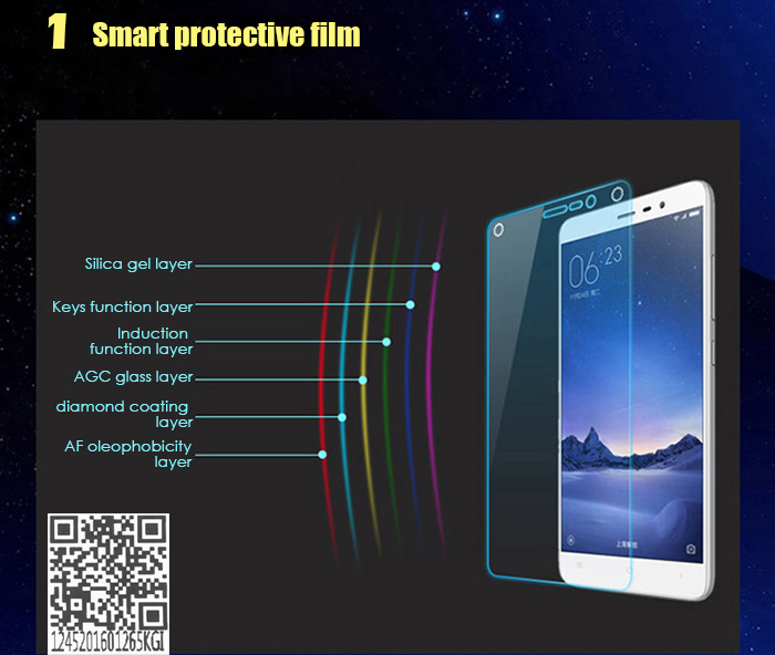 FAIRYMOU Smart Touch Tempered Glass Screen Protector for Xiaomi 4 2.5D Arc Edge 9H Explosion-proof Protective Film