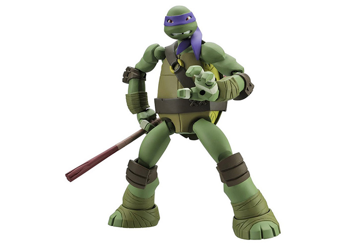 7 inch Cartoon Turtle Character PVC Action Figure Movable Joint Toy Home Office Decoration
