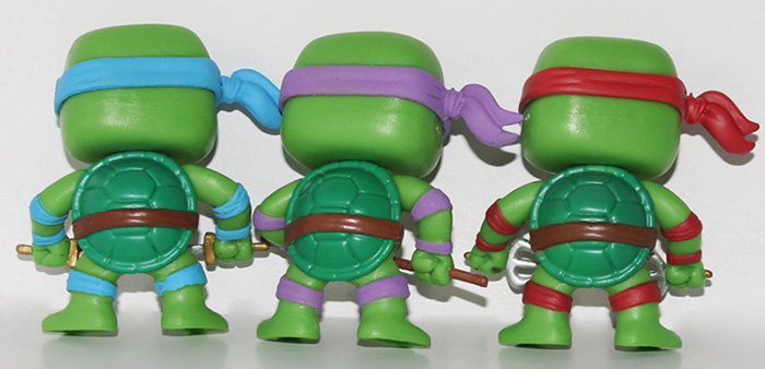 7.5cm 6PCs Turtle Style Kid Model Toy Movie Figure Decoration for Desktop Home