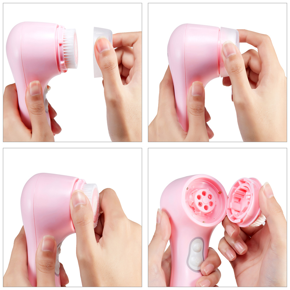 WIKILEAKS WL - 2741 Electric Ultrasonic Facial Cleaner Skin Cleansing Brush Auto Vibrating Massager