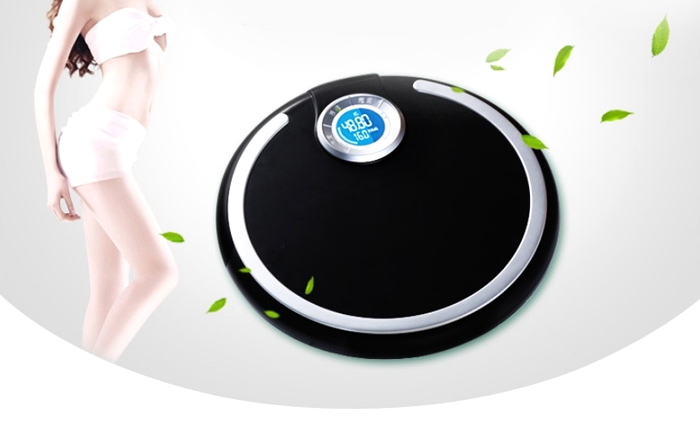 QIANXUAN QX - 029800 BMI Precision Body Fat Scales Electronic Blue LCD Backlit Personal Weighing Tool