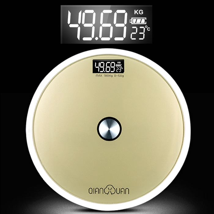 QIANXUAN QB - 2002 Digital Personal Body Fat Weight Scales LCD Temperature Precision Weighing Tool