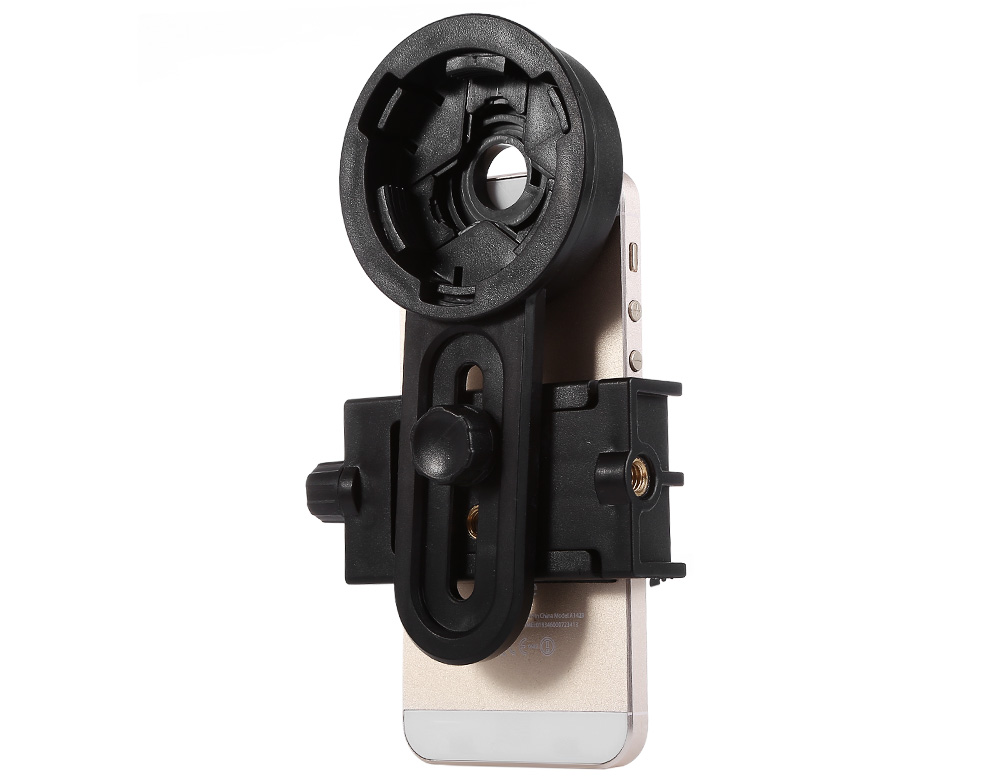 WNJ - 01 Universal Adjustable Mobile Photography Telescope Clip Holder with Tripod Screw Hole