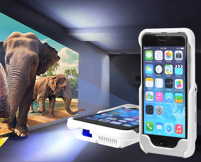 D9+ DLP Pico Projector 1500 Lumens 854 x 480 Pixels Home Theater for iPhone 6 Series